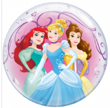 "Disney Princesses Bubble Balloon (22"") 1pc"